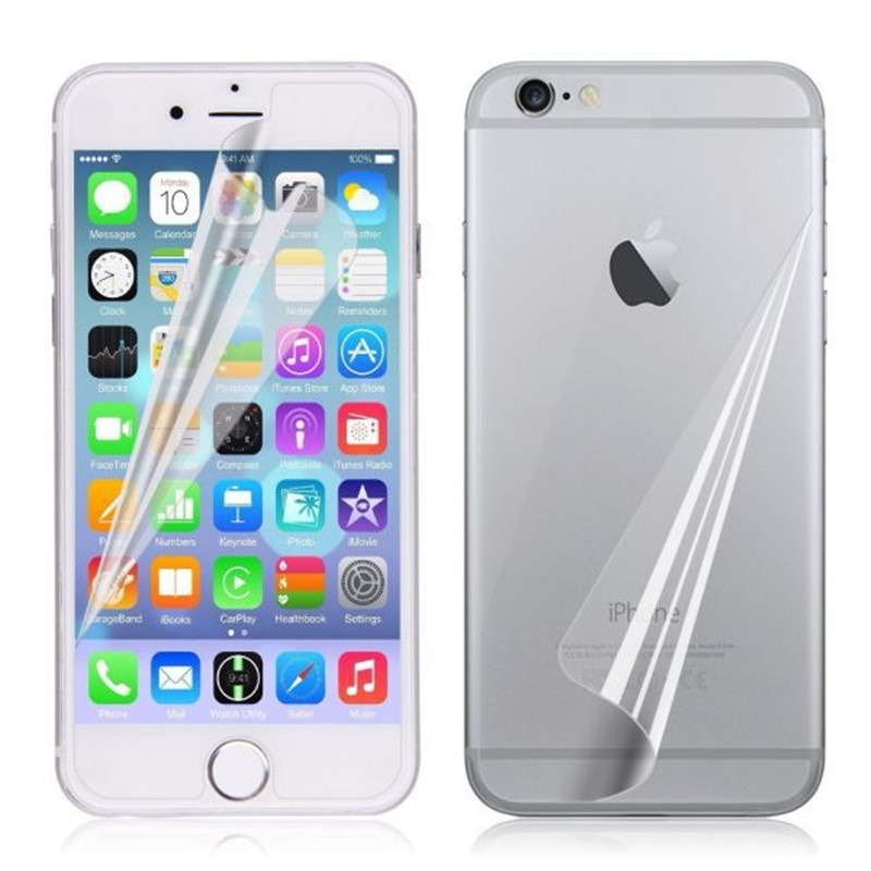 Front + Back HD Clear LCD Screen Display Protector Guard Film for iPhone 6 Plus 5.5 inch S288(China)