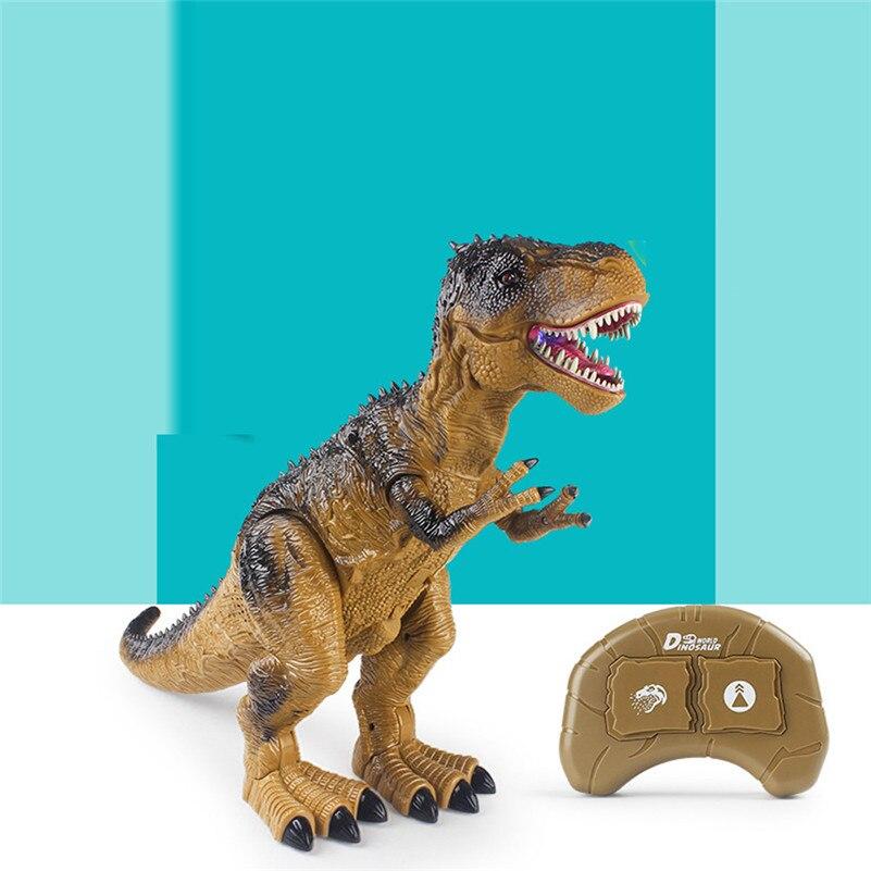 Control remoto caminar dinosaurio juguete fuego respiración agua Spray regalo de navidad niños juguete de alta calidad QA - 4
