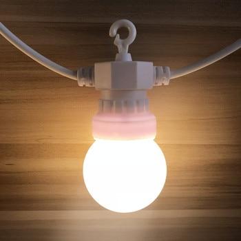 наружная освещенная гирлянда | IP65 42ft светодиодный G50 гирлянда шар лампы на веревочке, верхняя одежда, белая световая Гирлянда для Водонепроницаемый венок для свадьбы праз...