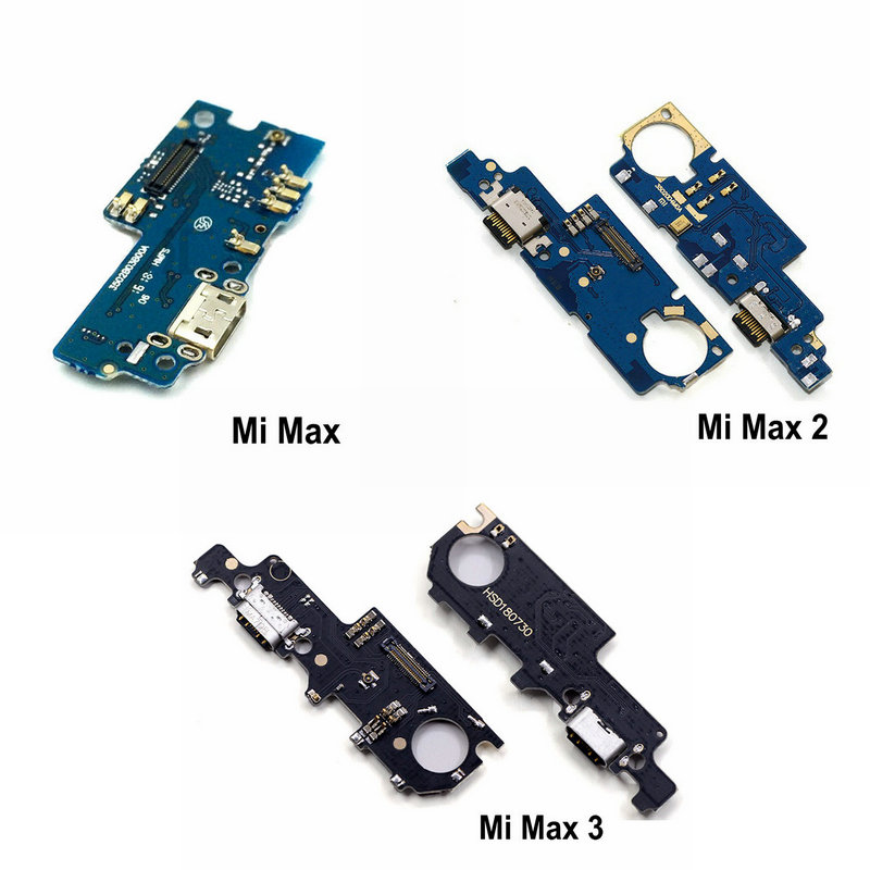 USB Charging Port Dock Plug Jack Connector Charge Board With Microphone Flex Cable For Xiaomi Mi Max 2 Max2 / Max 3 Max3