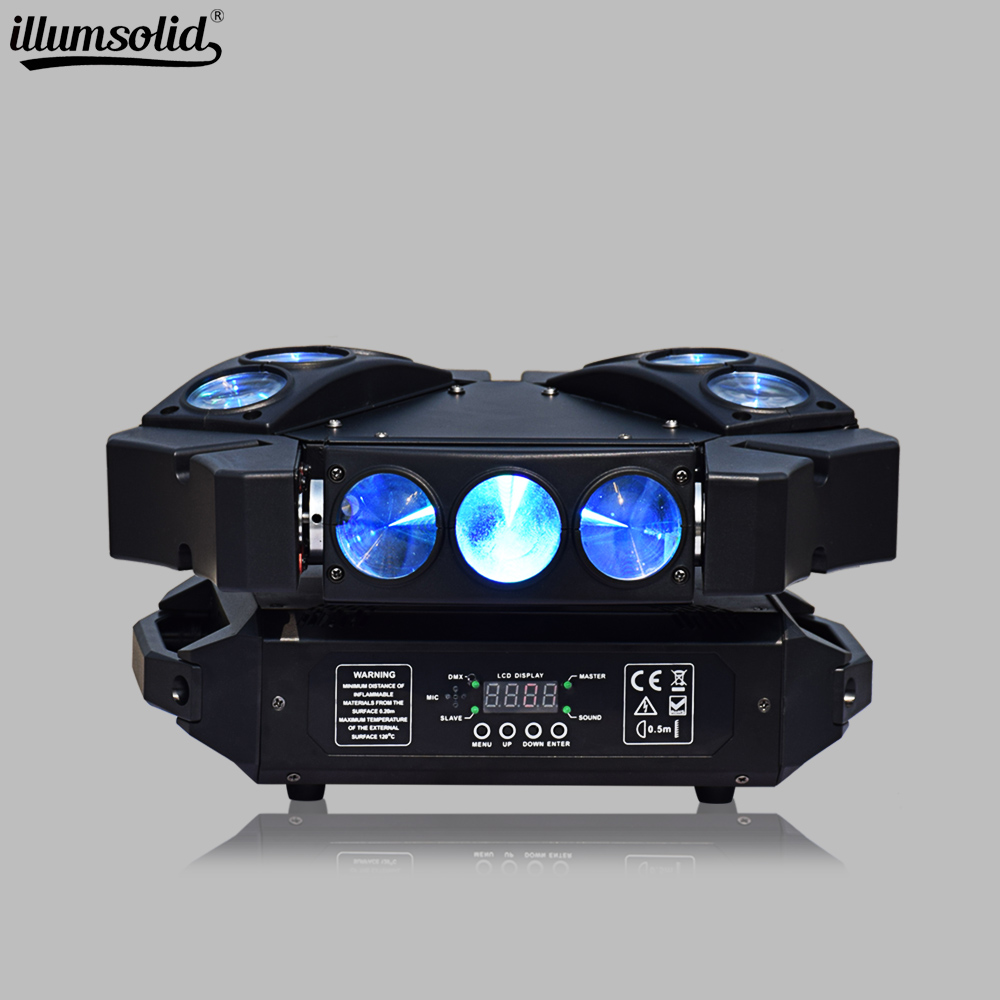 LED Spider Light Moving Head Triangle Spider Colorful Beam Moving Head Lights For Halloween Wedding Disco Dj Party