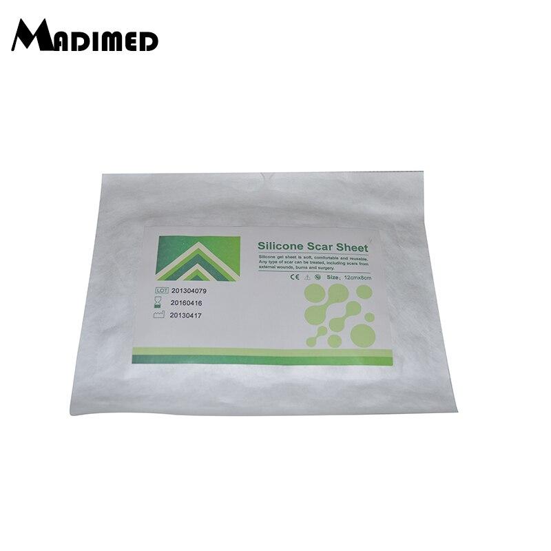 Silicone Gel Scar Dressing Survival Scar Away 12x8cm Silicone Gel Scar Sheet  Scar Removal Patch  Treatment Kit Strips
