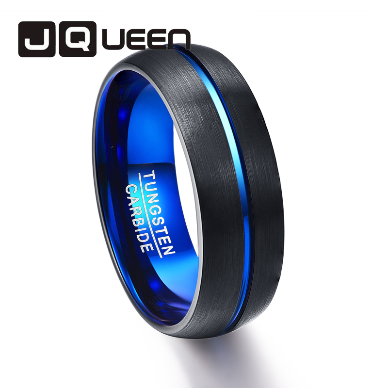 Покрытие вакуум черный купол матовая поверхность синий радиальный синий внутреннее кольцо Вольфрам Сталь кольцо для Свадебная вечеринка Д...