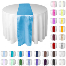 10 adet/grup jakarlı tarzı saten masa koşucular düğün parti ziyafet dekorasyon olaylar malzemeleri parti dekorasyon 30x275cm