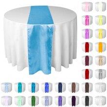 10 unids/lote estilo Jacquard caminos de mesa de satén decoración de banquetes de boda fiesta suministros y decoraciones para fiestas 30x 275cm