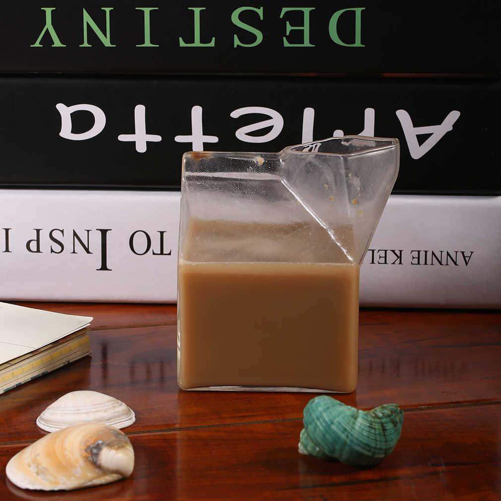 Hot Bán Hàng Mỹ Nửa Pint Kem Hộp Sữa Ly Cà Phê Thủy Tinh Cốc Đựng Nước Ép Thiết Kế Độc Đáo Nguyên Chất Handmade Thủ Công