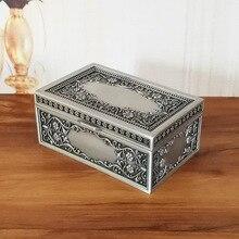 Размер S, винтажная шкатулка, брелок, чехол, металлическая коробка, ожерелье, браслет, кольца, Подарочная коробка для хранения, украшение дома, художественное ремесло