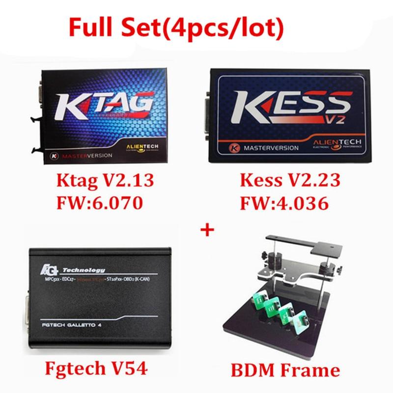 Professionele Wedstrijd KTAG V2.13 HW V6.070 KESS V2 V2.23 HW V4.036 FGTECH V54 V 54 BDM FRAME Geen Tijd Beperkt ECU Chip Interface - 2