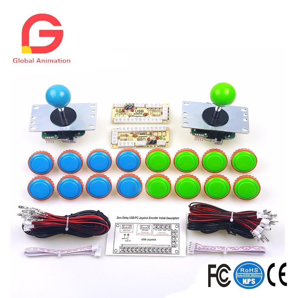 2 Player Sanwa Bundles 16 x Arcade SANWA Button + 2 x Sanwa Joystick + Encoders