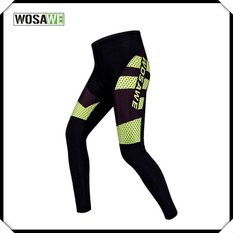 e8a9ebe8723 사이클링 스타킹 Wosawe Hight 품질의 안티 땀 통기성 자전거 바지 자전거 사이클링 승마 의류 젤 패딩 바지 S ~ XXL