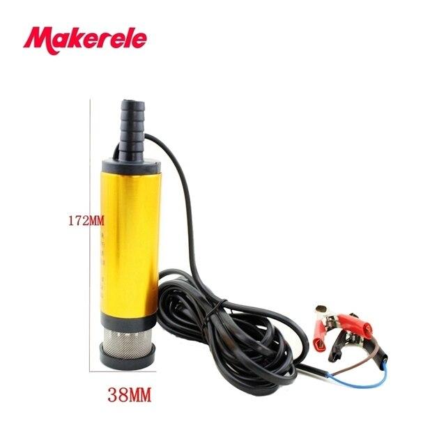 Mini Diameter 38MM 12V/24V Mini Electric Oil Pump Portable Fuel Water Pump Aluminium Alloy Belt Filter Net