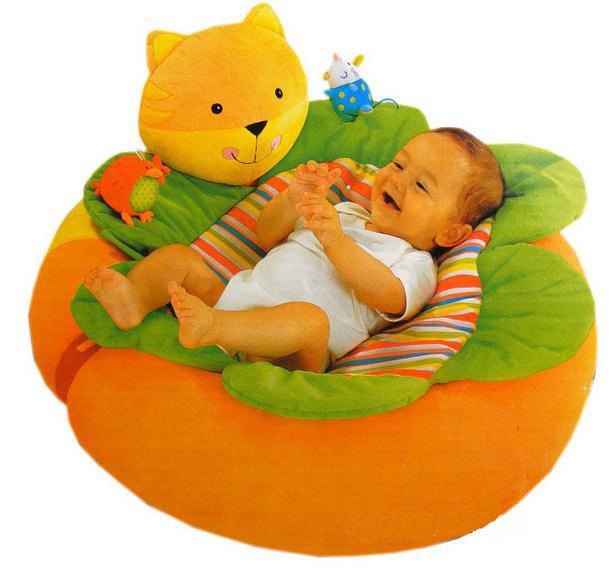 Promoção frete Grátis 1 Unidade de Gato Amarelo Blossom Fazenda Sit Me Up Cosy Assento Do Sofá Inflável Do Bebê Macio Tapetes de Jogo Do Bebê