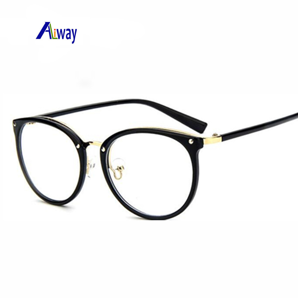 Large Frame Ladies Glasses : Aliway Brand womens optical glasses frame women ...