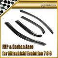 Car-styling para mitsubishi evolución evo 7 8 9 carbon fiber deflector de viento en la acción
