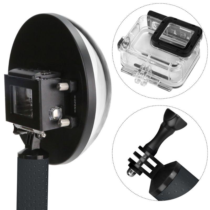 Port de dôme de plongée de 6 pouces pour caméra GoPro GoPro 7 6 5 caméra de sport noire avec boîtier étanche dôme pour Gopro 7 6 5 accessoire