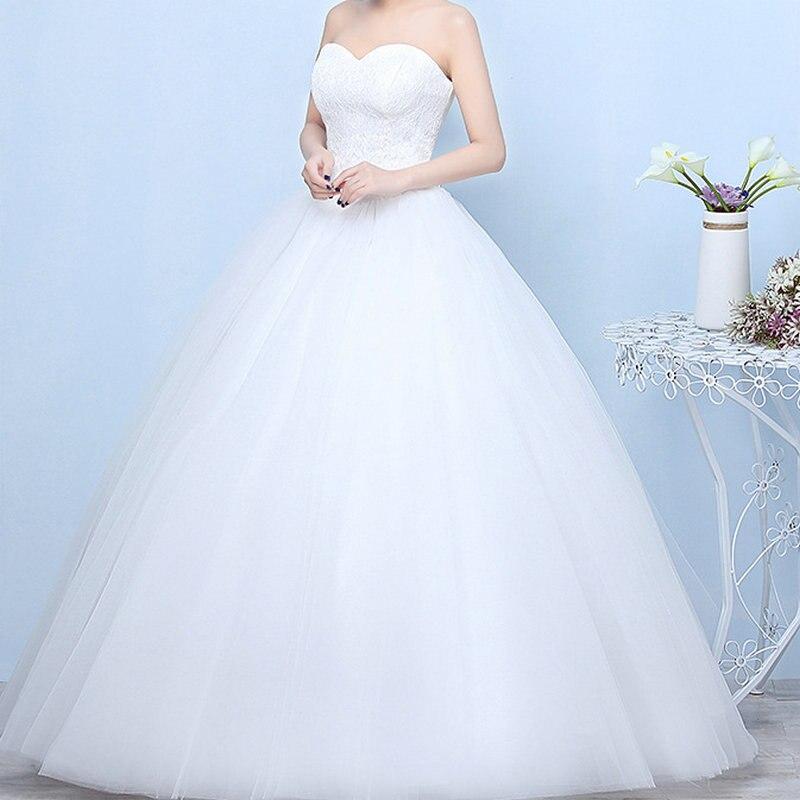 Свадебные платья 2018 Robe De Mariage принцесса Bling Роскошные кружево Белый бальное платье свадебные Vestido De Noiva