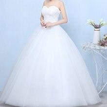 فساتين زفاف 2019 رداء دي ماريج الأميرة بلينغ بلينغ فاخر الدانتيل الأبيض الكرة ثوب الزفاف Vestido De Noiva