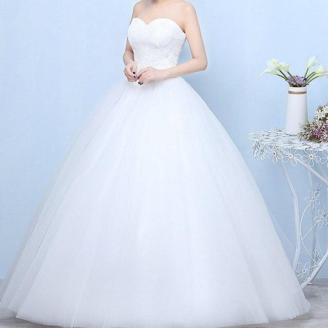 Gelinlik 2019 Robe De Mariage prenses Bling Bling lüks dantel beyaz topu cüppe gelinlikler Vestido De Noiva