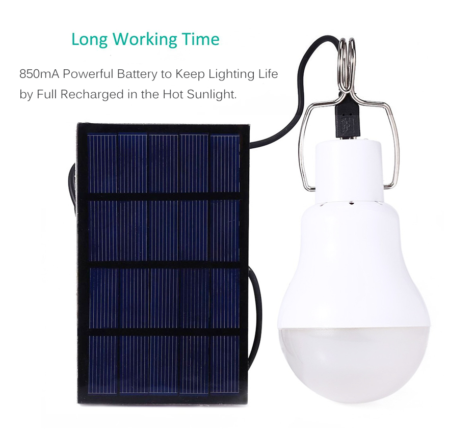 Lâmpadas Solares luminaria painel de energia solar Tipo de Célula Solar : Bateria de Lítio