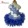 Ruffles Organza Ball Gown Girls Pageant Dresses 2016 Royal Blue Beaded Kids Prom Dresses Formal Pageant Gowns for Girls 10 12