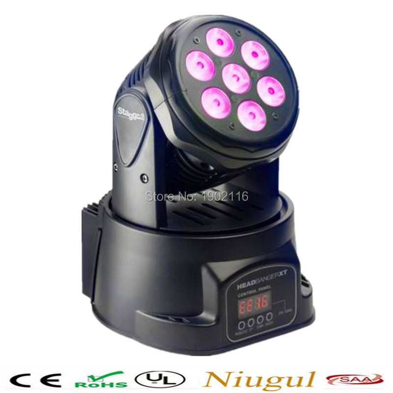Fast shipping 7x12w 4in1 LED Lamp/ Mini Led Moving Head /LED Beam Wash/ led Spot Light /Dj Disco Club Party Wedding Stage Effect dhl fedex free shipping 230w 7r beam moving head light dmx 230w spot 7r disco dj lighting for dj club night club party wedding