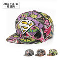 Libertad de graffiti hip hop mujeres sombrero gorras planas plana sombreros flor deporte táctico diamond superman snapback gorras de béisbol sombreros