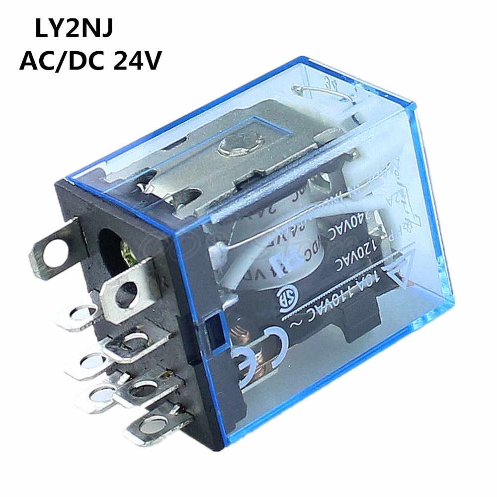 Detail Feedback Questions About Ly2nj Ac Dc 220v Coil 10a 240v Power Spdt Micro Mini Relay 5v 1pc Hh62p Hhc68a 2z Electronic Electromagnetic 8pin Dpdt