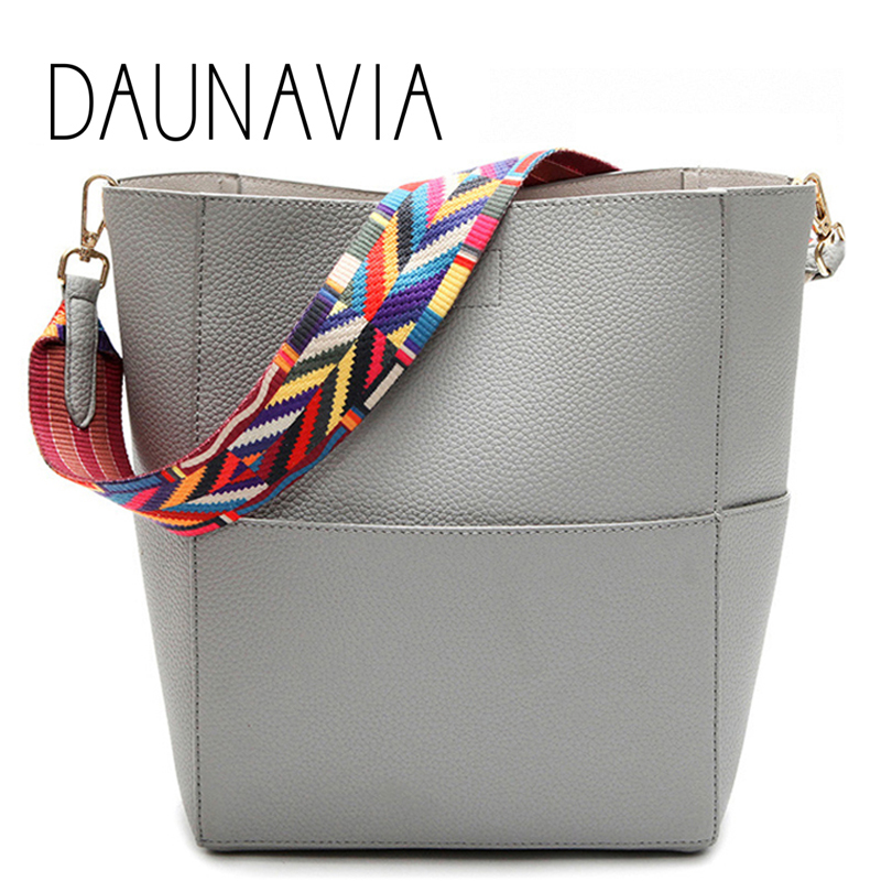 DAUNAVIA Brand Luxury Designer women bags Women Leather Handbags with Strap Shoulder bag Handbag Large Capacity Crossbody bag gorden yi de luxury brand designer bucket bag women leather wide strap shoulder bag handbag large capacity crossbody bag color 8