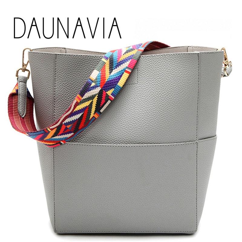 DAUNAVIA Brand Luxury Designer women bags Women Leather Handbags with Strap Shoulder bag Handbag Large Capacity Crossbody bag