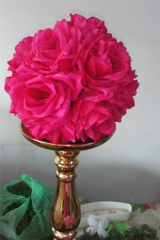 SPR 15cm / 6 inčni dekoracije vjenčanja svila ljubljenje Pomander - Za blagdane i zabave - Foto 2