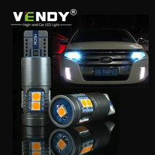 купить 2pcs Car LED Clearance Lights W5W T10 194 2825 Auto 12V Bulbs Canbus No Error Position Width Parking Lamp Side Light Car Styling дешево