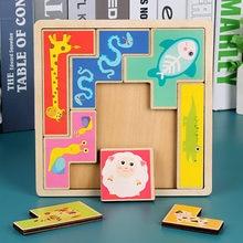 Quebra-cabeça do bebê dos desenhos animados de madeira pequena peça crianças brinquedo 3d quebra-cabeça de madeira brinquedos educativos para crianças juguetes educativos