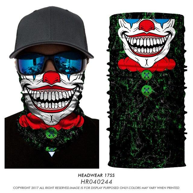 46fe507aafa 3D Sans Soudure Magie Multifonction Bandeau Batman Joker Clown Tube Col  Écharpe Masque Snowboard Bandana Halloween Paintball Chapeau dans Echarpes  de ...