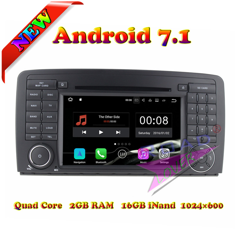 TOPNAVI 2G 16GB Android 7 1 Car DVD Player For Benz R W251 R280 R300 R320