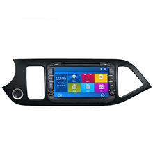 Car DVD Player GPS Navigation System For Kia Picanto Morning Naza Suria 2011 2012 2013 2014 with RDS USB Steering wheel control