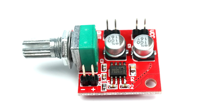 LM386 electret microphone amplifiers