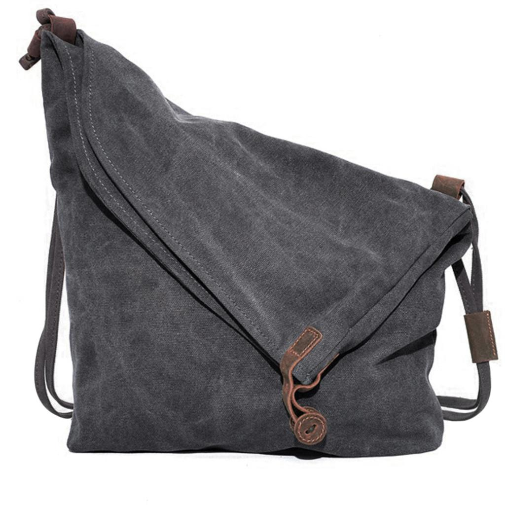 Canvas Women Messenger Bag Casual Men Handbag crazy horse Leather Vintage Women's Shoulder Bags Travel  sac a main femme casual canvas satchel men sling bag