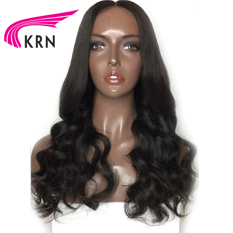 KRN 13*6 Deep Part Lace Front Wigs For Women Body Wave Remy Pre Plucked Brazilian Human Hair Wigs With Baby Hair 130 Density