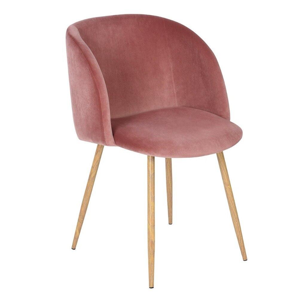 EGGREE бархат ткань ванна Акцент стул кресло, обеденный гостиной офисные современная мебель розовый комплект 1