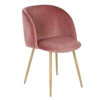 EGGREE бархат ткань ванна Акцент стул кресло столовая гостиная комната для отдыха офисная современная мебель-розовый набор из 1
