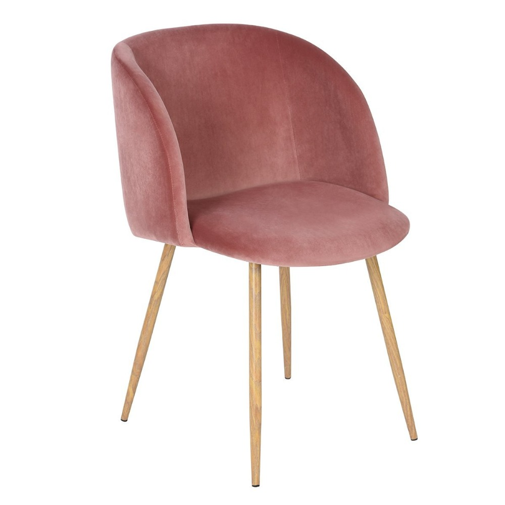 Tub Accent Chair Bedroom And Table Set Eggree Velvet Fabric Armchair Dining Living Room Lounge Office Modern Furniture Rose Pink Of 1