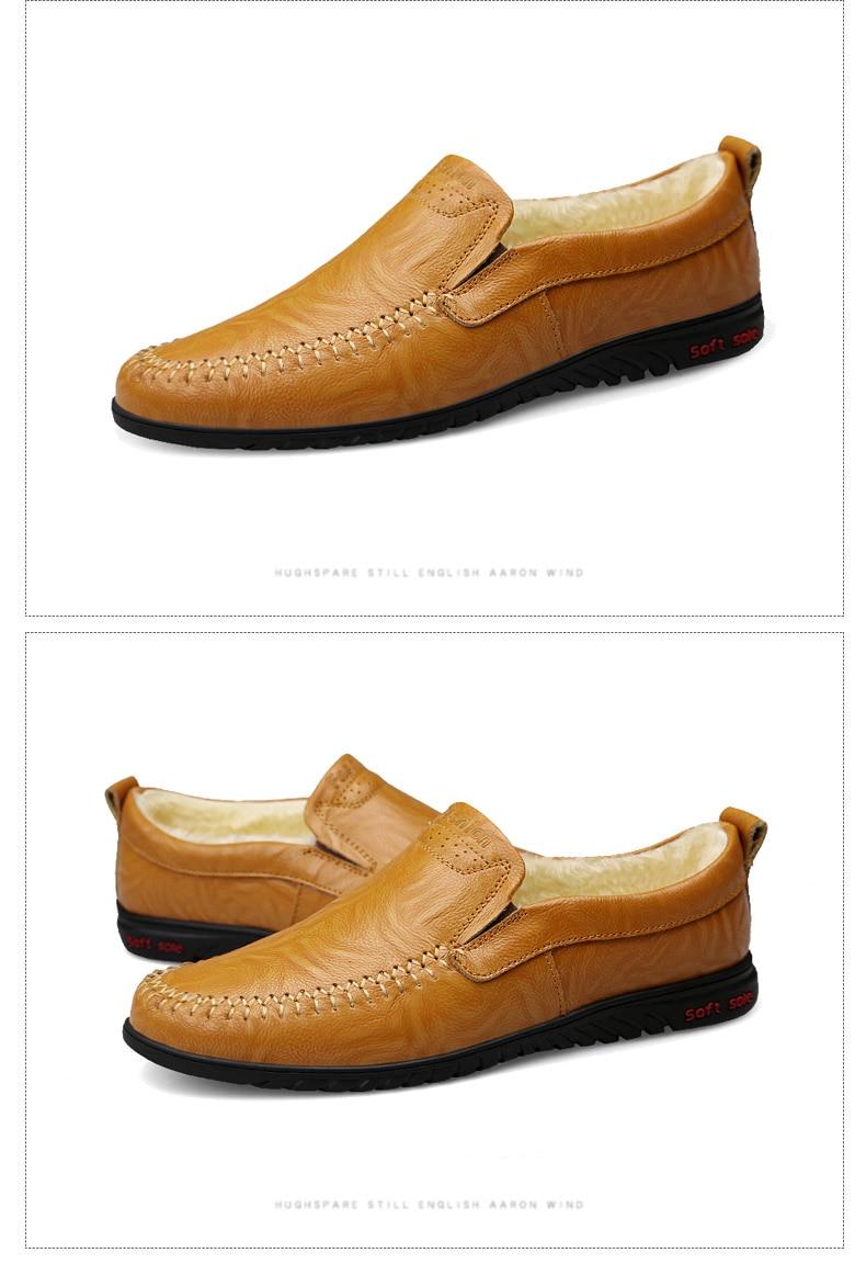 HTB1SMkiX2vsK1RjSspdq6AZepXay DEKABR Men Shoes Genuine leather Comfortable Men Casual Shoes Footwear Chaussures Flats Men Slip On Lazy Shoes Zapatos Hombre