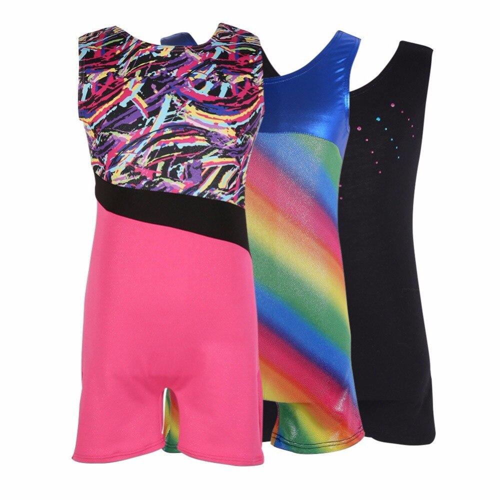 Kids Girls Ballet Leotards Sleeveless Gymnastic Ballet Tutu Dancewear Gilding Professional Ballet Dance Costumes