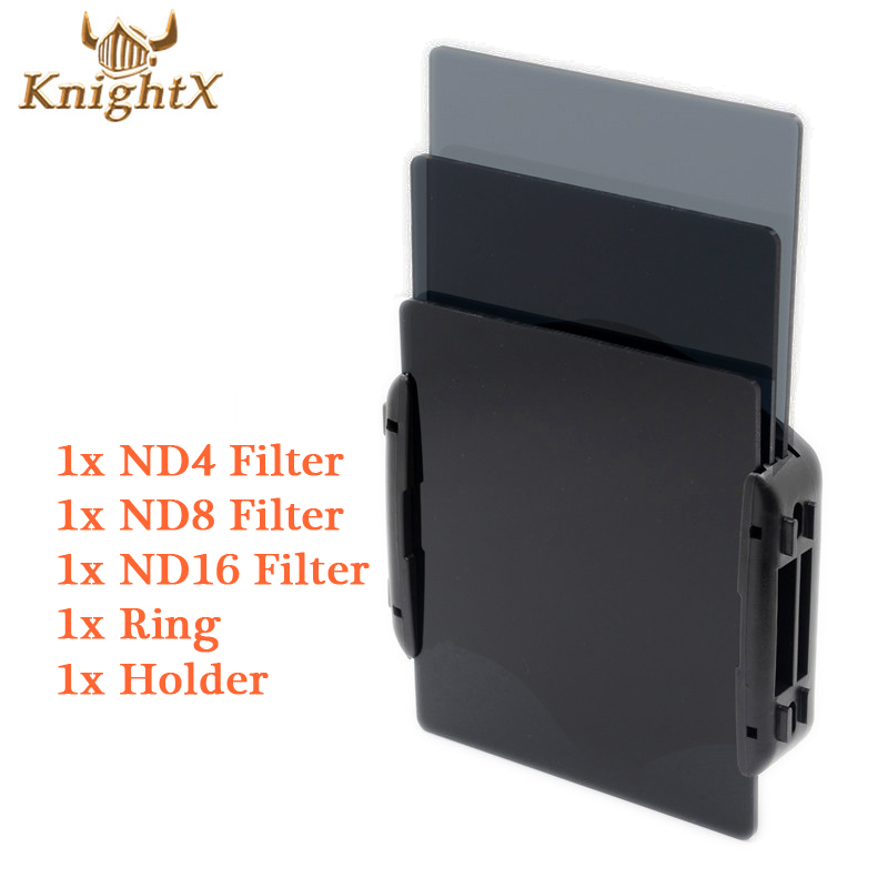 KnightX 49 52 55 58 67 77 mm linse kamera nd Fargefilter Kit Cokin P Serie Ring Adapter Holder For Canon EOS 1100D 60D 70D 600D