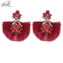 Badu Tassel Earring 2018 New Arrival Women Vintage Fashion Crystals Stud Earrings Baroque Statement Handmade Pendientes