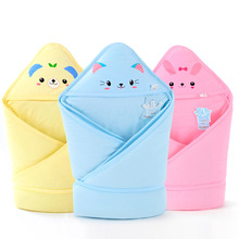 Infant wrap little lion baby blanket thicker quality newborn's quilt envelope muslin cute Cartoon animal swaddle aden anais