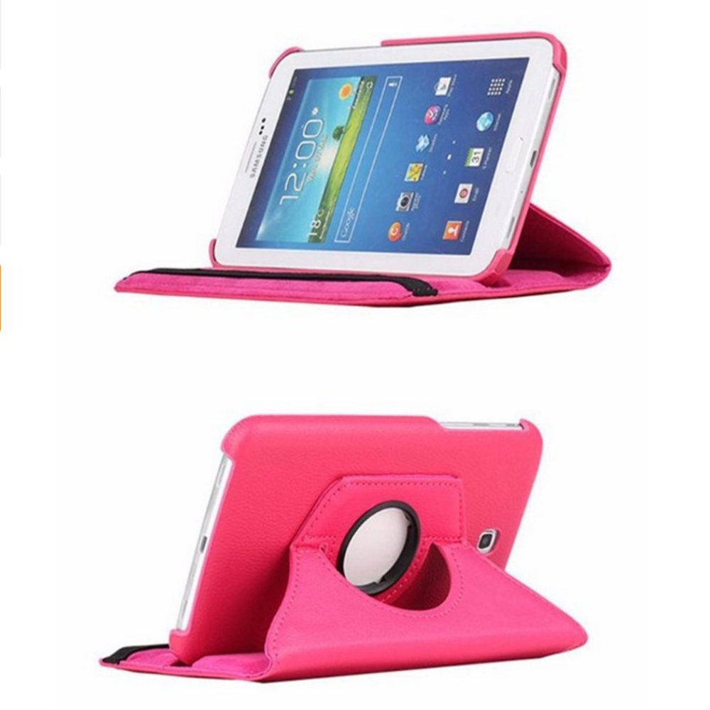 Protective Litchi Rotating PU Leather Stand Cover Cases For SAMSUNG Galaxy tab 3 7.0 inch P3200 P3210 T210 T211 tablet PC