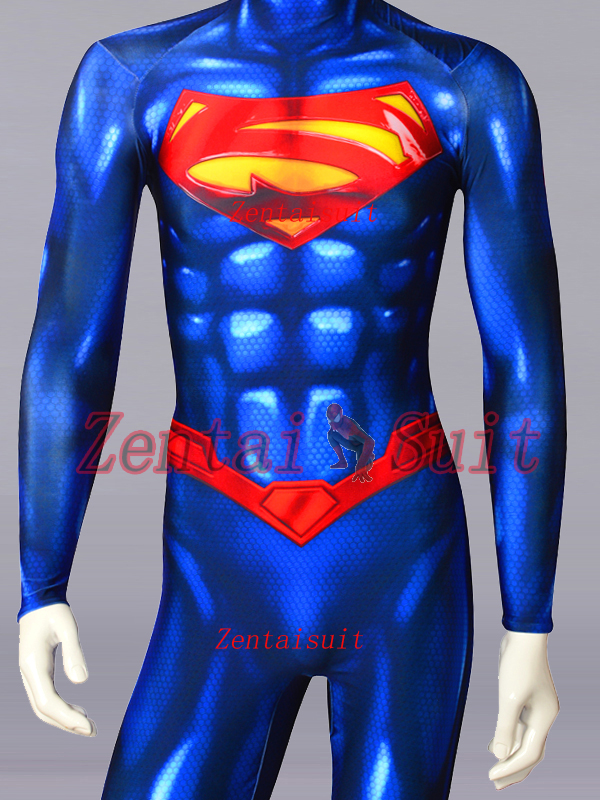 Superman Costume New 52 Version Superman Cosplay Zentai Suit For Adult//Kids