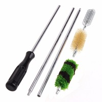 6Pcs Rod Brush Cleaning Kit Aluminum For 12 GA Gauge Gun Hunting Shotgun Rifle