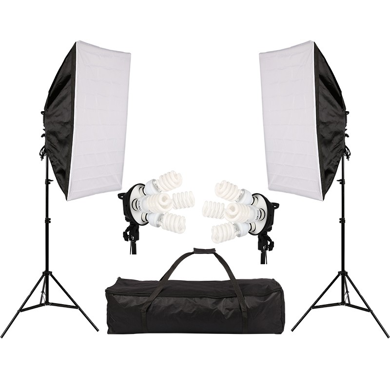 4in1 Bulb Soft Box Photography Lighting Kit Continuous Lighting System Photo Studio Equipment Photo Model Portraits Shooting Box